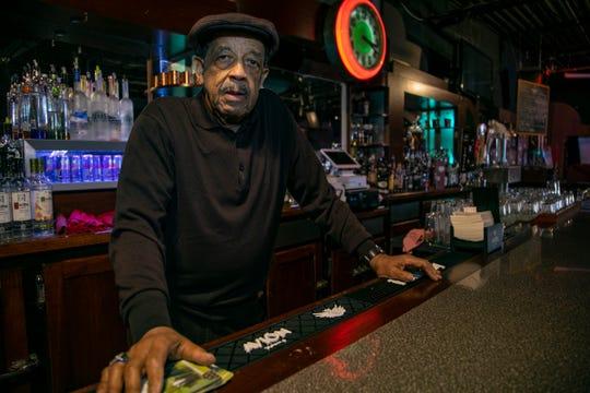 Bert Dearing, of Bert's Entertainment Complex in Eastern Market stands at The Motown Bistro Bar Wednesday, Jan. 23, 2019.