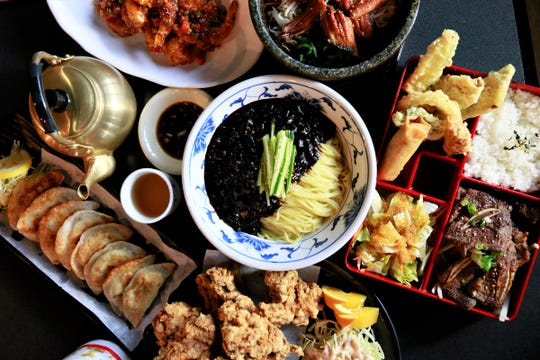 A spread of fare from Soora Korean Restaurant in West Bloomfield.