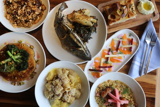 A spread of the Italian fare inspired by modern Rome from SheWolf Pastificio & Bar in Detroit's Cass Corridor/Midtown neighborhood.