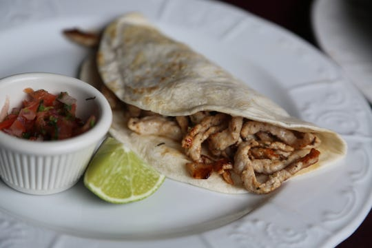 La Noria Bistro serves tacos arabes, a Pueblan style of taco similar to al pastor but larger and with different seasonings. The casual new restaurant from the El Barzon owners serves both Italian and Pueblan-style Mexican cuisine in Detroit.