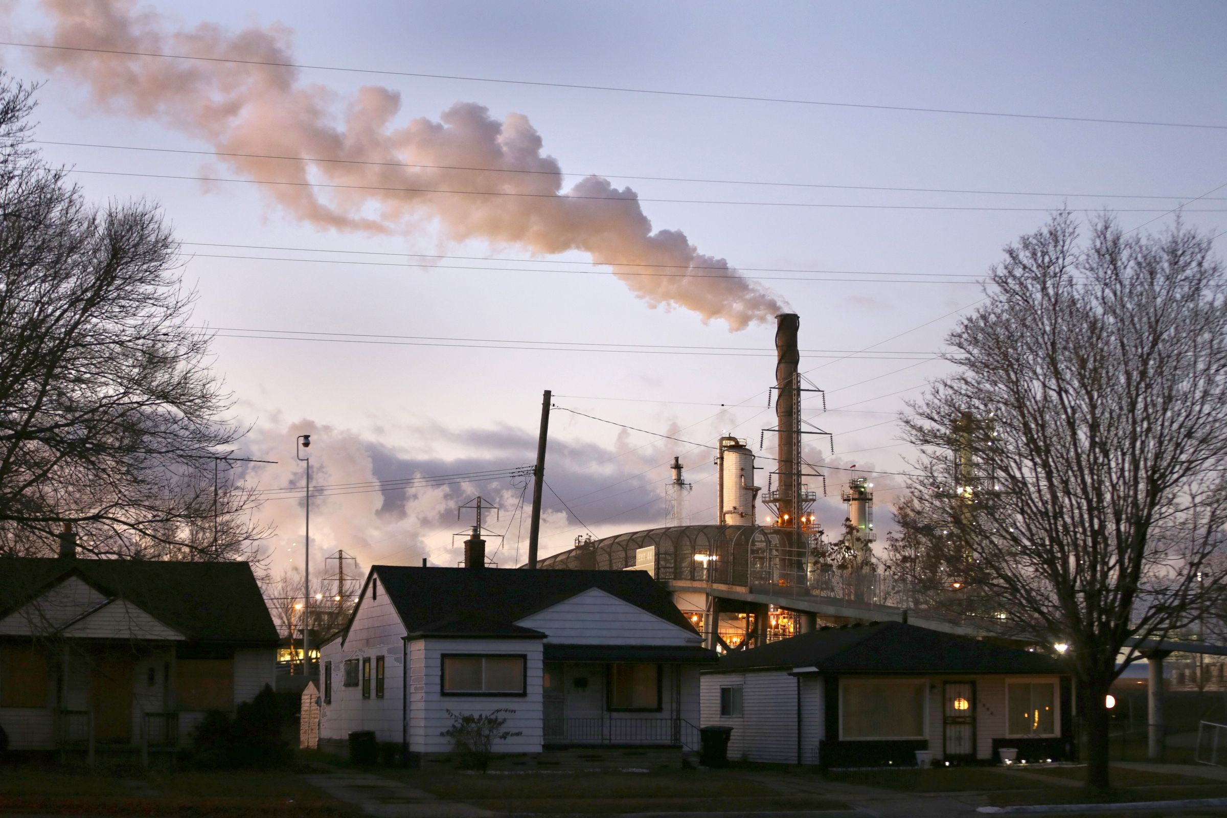 The Marathon Detroit Refinery is a frequent source of complaints from residential neighbors concerned about air quality.