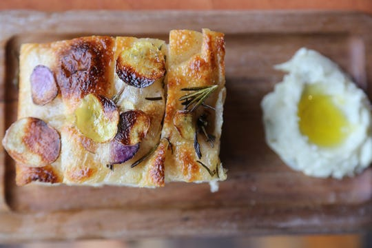 Lombardia focaccia with potato and rosemary ($6) from SheWolf Pastificio & Bar in Detroit's Cass Corridor/Midtown neighborhood.
