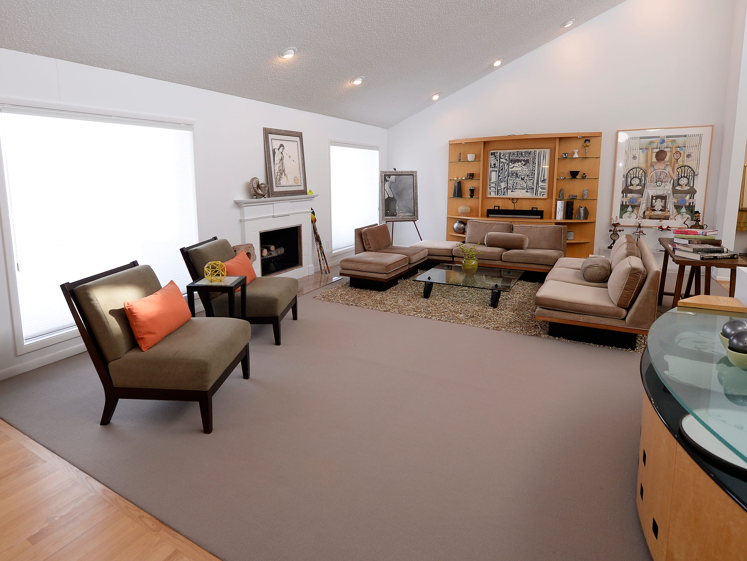 Overall wide view of the living room.