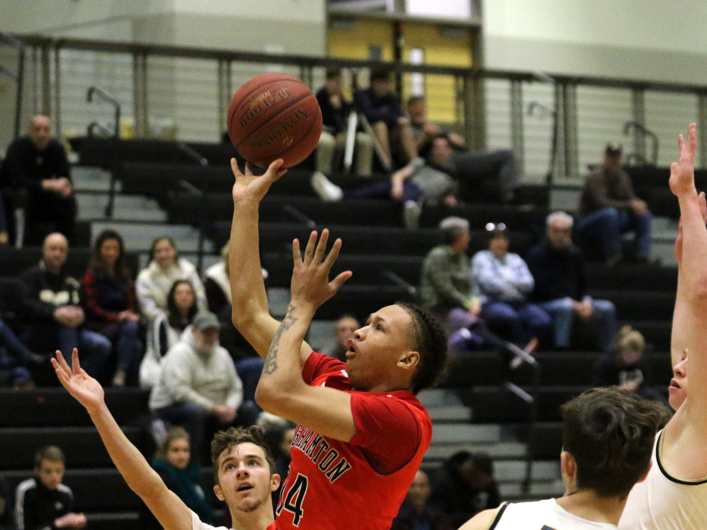 Action from the Binghamton boys basketball team's 71-66 win over Corning on Feb. 2, 2019 at Corning-Painted Post High School.