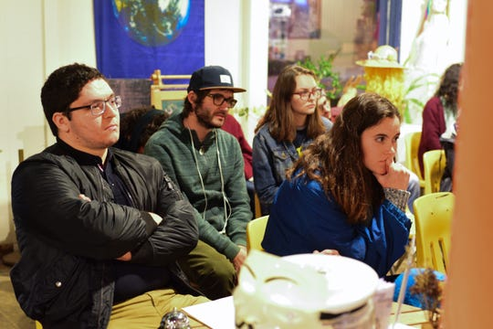 Students held a discussion about feminism and women's issues in today's context at The Plant on Wednesday.