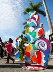 Sculptures by Clayton Swartz were featured at ArtFest Fort Myers on Sunday in downtown Fort Myers. The annual event featured works by local and national artists.
