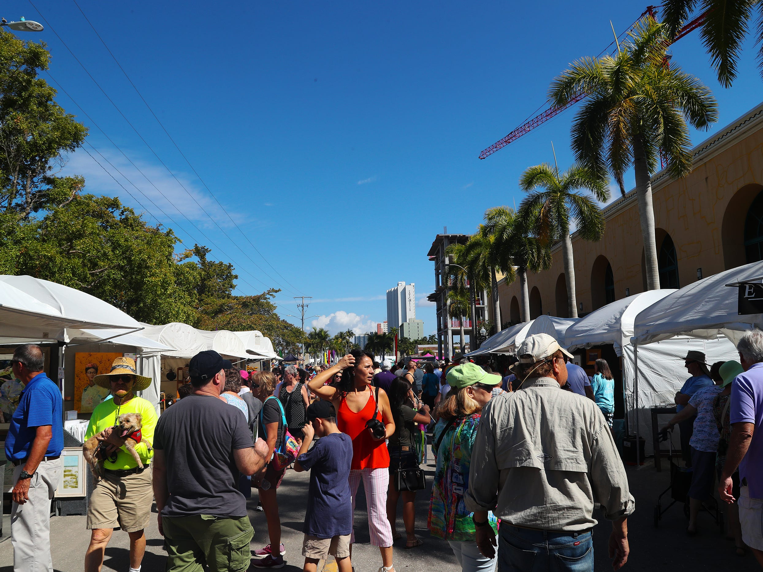 Thousands attended ArtFest Fort Myers on Sunday in downtown Fort Myers. The annual event featured works by local and national artists.