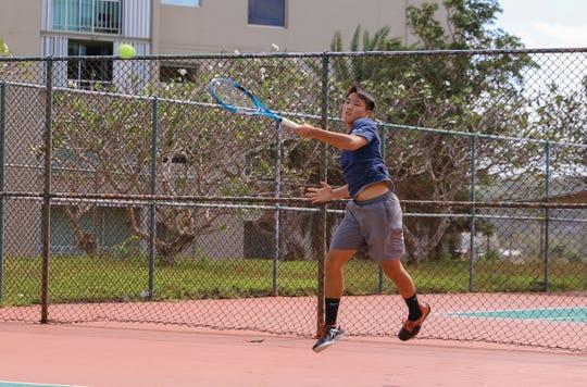 Camden Camacho won the U18 Boys Singles Open title, defeating Aarman Sachdev 6-1, 6-3 in the Calvo's SelectCare Grand Prix Tennis Tournament.