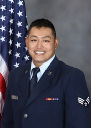 Senior Airman Sky Topasna, with 254th Red Horse Squadron, was named Airman of the Year.
