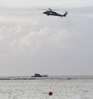 The search for a male reported to have gone missing over the reef Saturday afternoon in Tumon was suspended Sunday morning because officials had no correlating information.