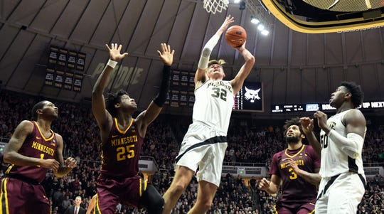 Action from Purdue's 73-63 win against Minnesota in West Lafayette on Sunday February 3, 2019.