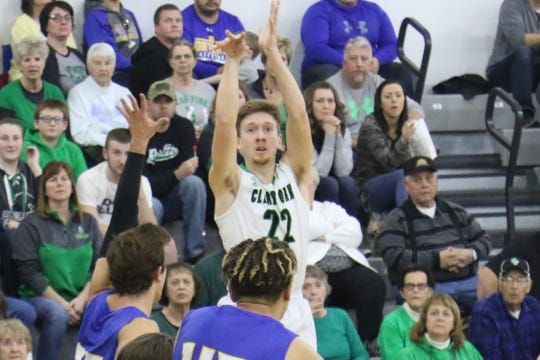 Clear Fork's Jared Schaefer shoots a 3-pointer against Ontario earlier in the season.
