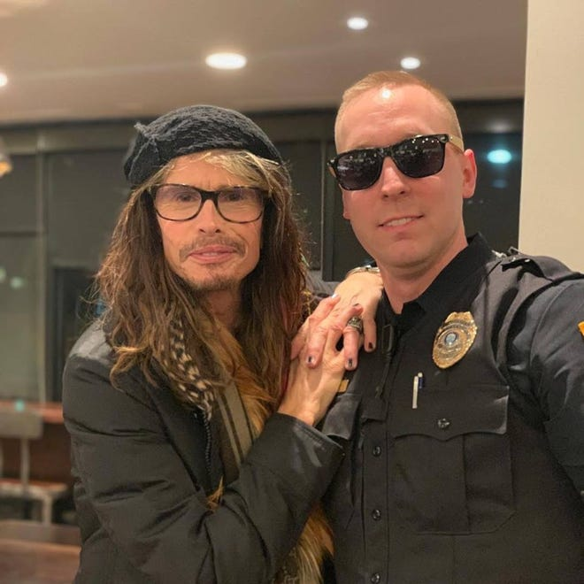 Rockstar Steven Tyler was spotted in Germantown ahead of a Youth Villages event in Bartlett on Monday.