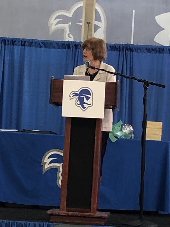 Dr. Domenica Desiderioscioli, who spent 51 years at Montclair State University, was an honor award recipient at New Jersey's Girls & Women in Sports Day luncheon.