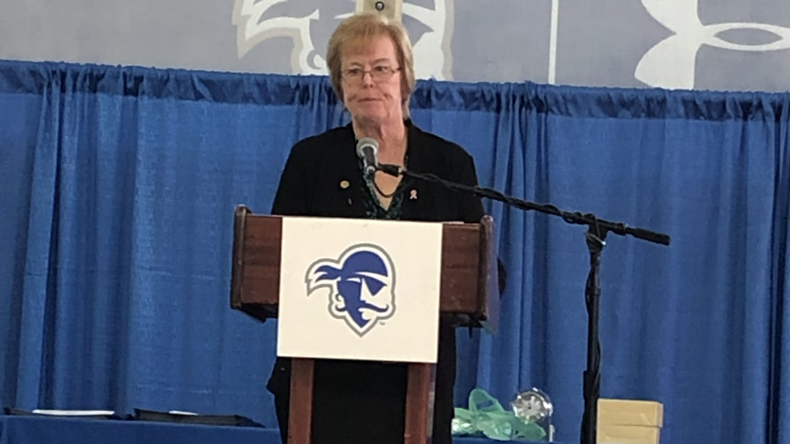 Pioneering South Brunswick athletic director Elaine McGrath was an honor award recipient at New Jersey's Girls & Women in Sports Day luncheon.