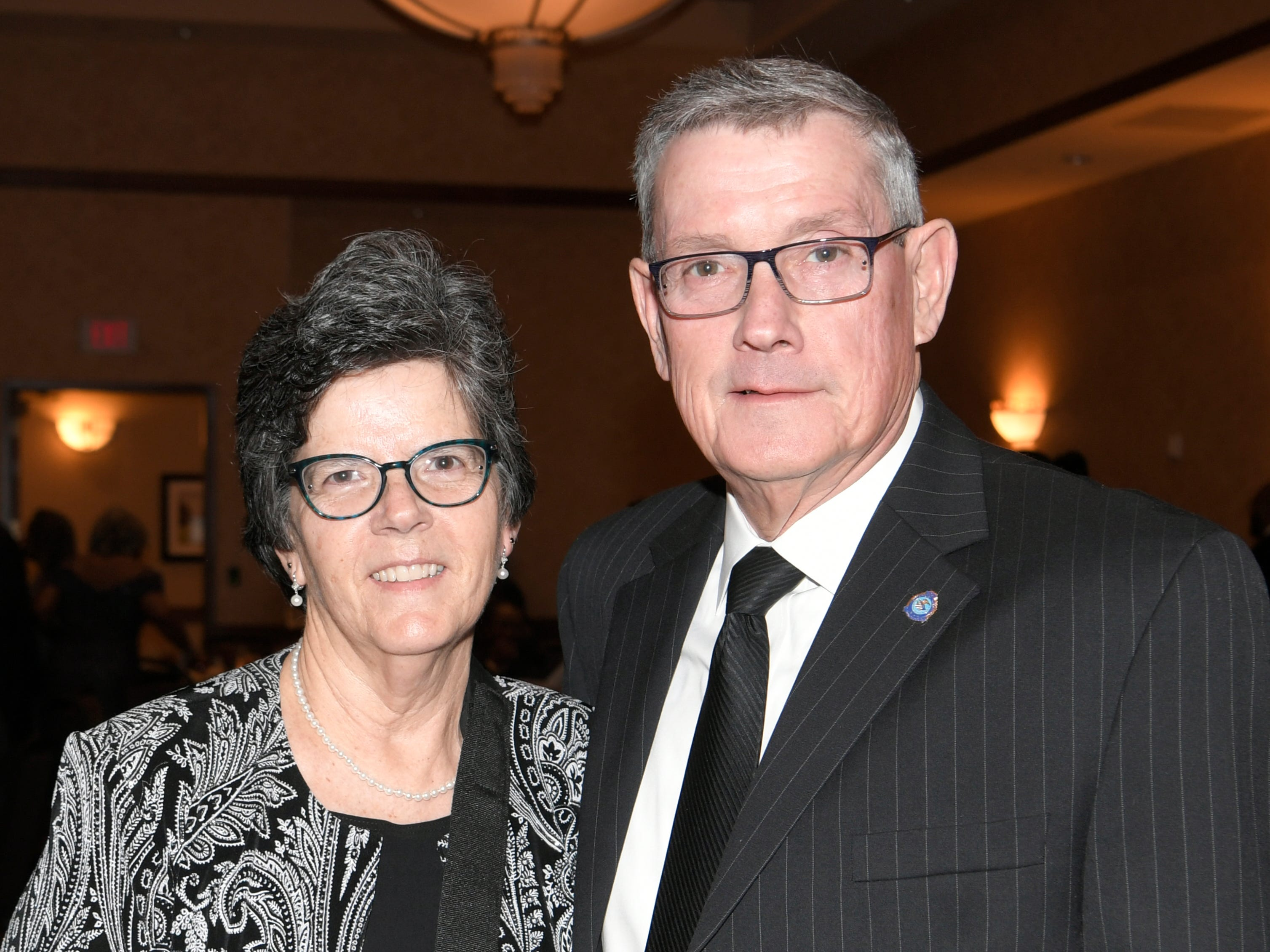 Lynn and Dusty Rhoades at the African American Heritage Society's 18th Annual Black Tie Affair at the Embassy Suites in Franklin on Sat., Feb. 2, 2019.