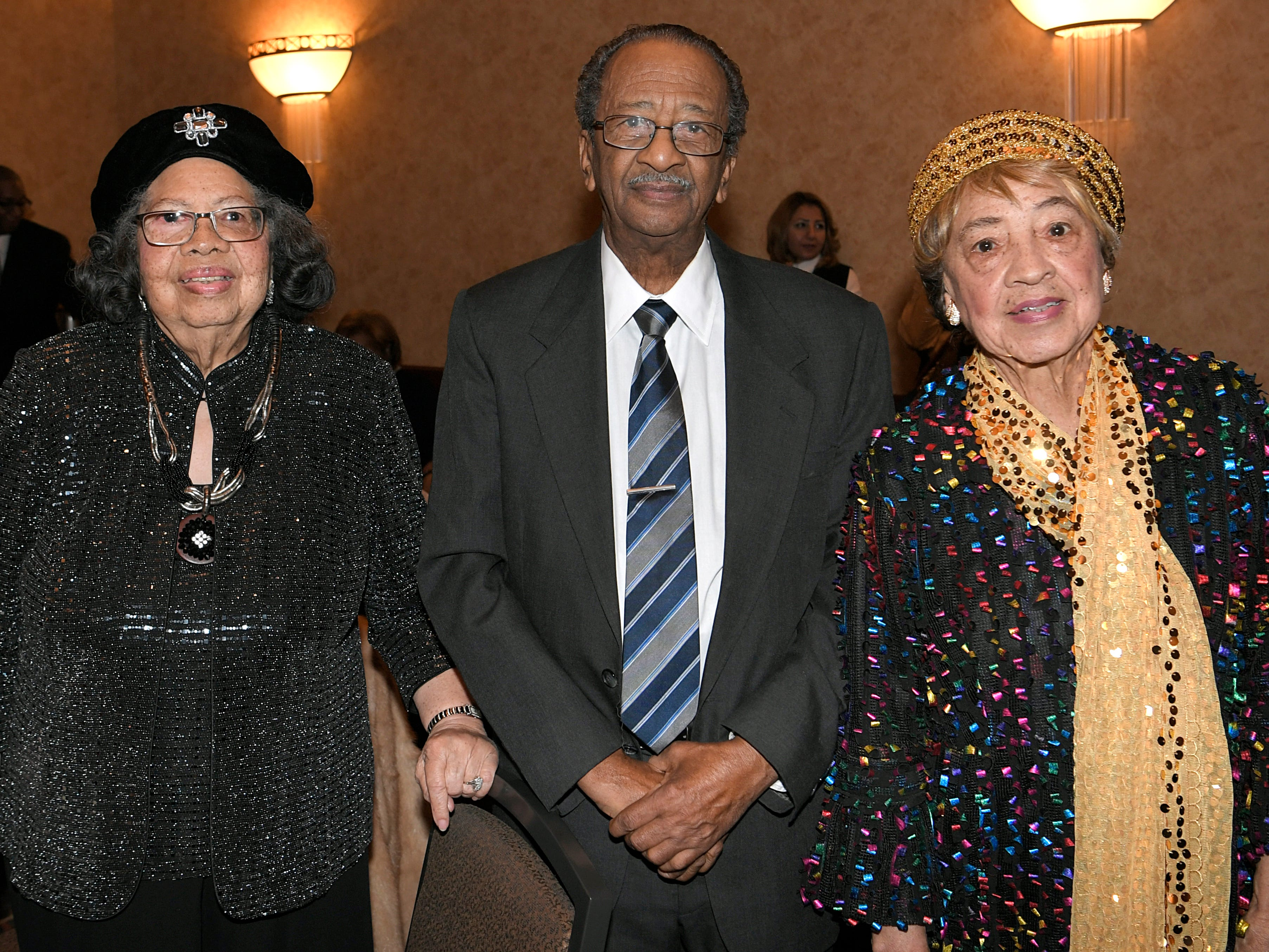 Eleanor Bright, Littleton Wade and Mary Bright Walker at the African American Heritage Society's 18th Annual Black Tie Affair at the Embassy Suites in Franklin on Sat., Feb. 2, 2019.