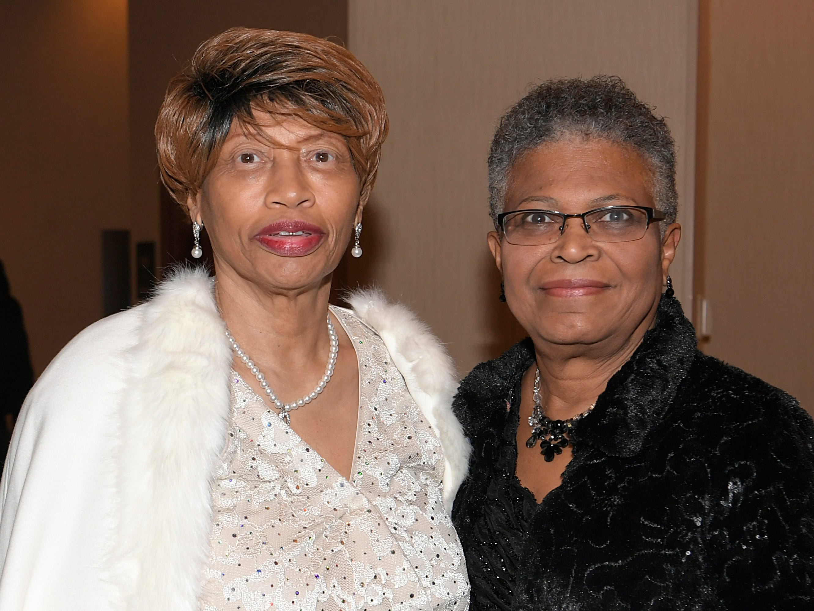 Josie Jones and Louise Peoples Anderson at the African American Heritage Society's 18th Annual Black Tie Affair at the Embassy Suites in Franklin on Sat., Feb. 2, 2019.