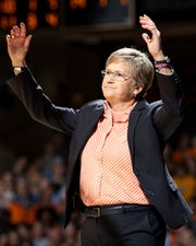 UT head coach Holly Warlick reacts to a call during the first half against Vanderbilt at Memorial Gym in Nashville, Tenn., Sunday, Feb. 3, 2019.