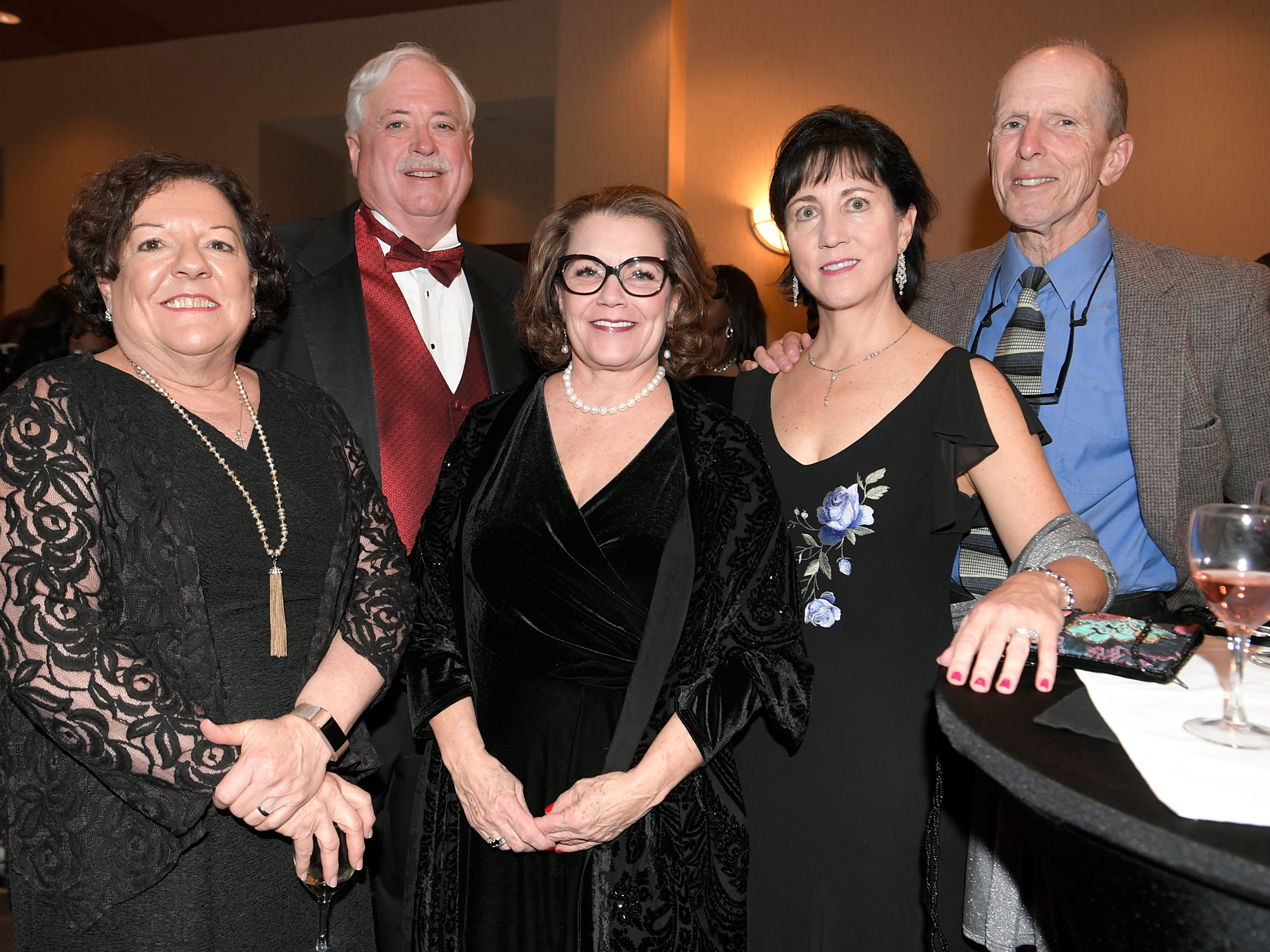Diane and Steve Smith, Cindi Parmenter, Monica and Paul Garvey at the African American Heritage Society's 18th Annual Black Tie Affair at the Embassy Suites in Franklin on Sat., Feb. 2, 2019.