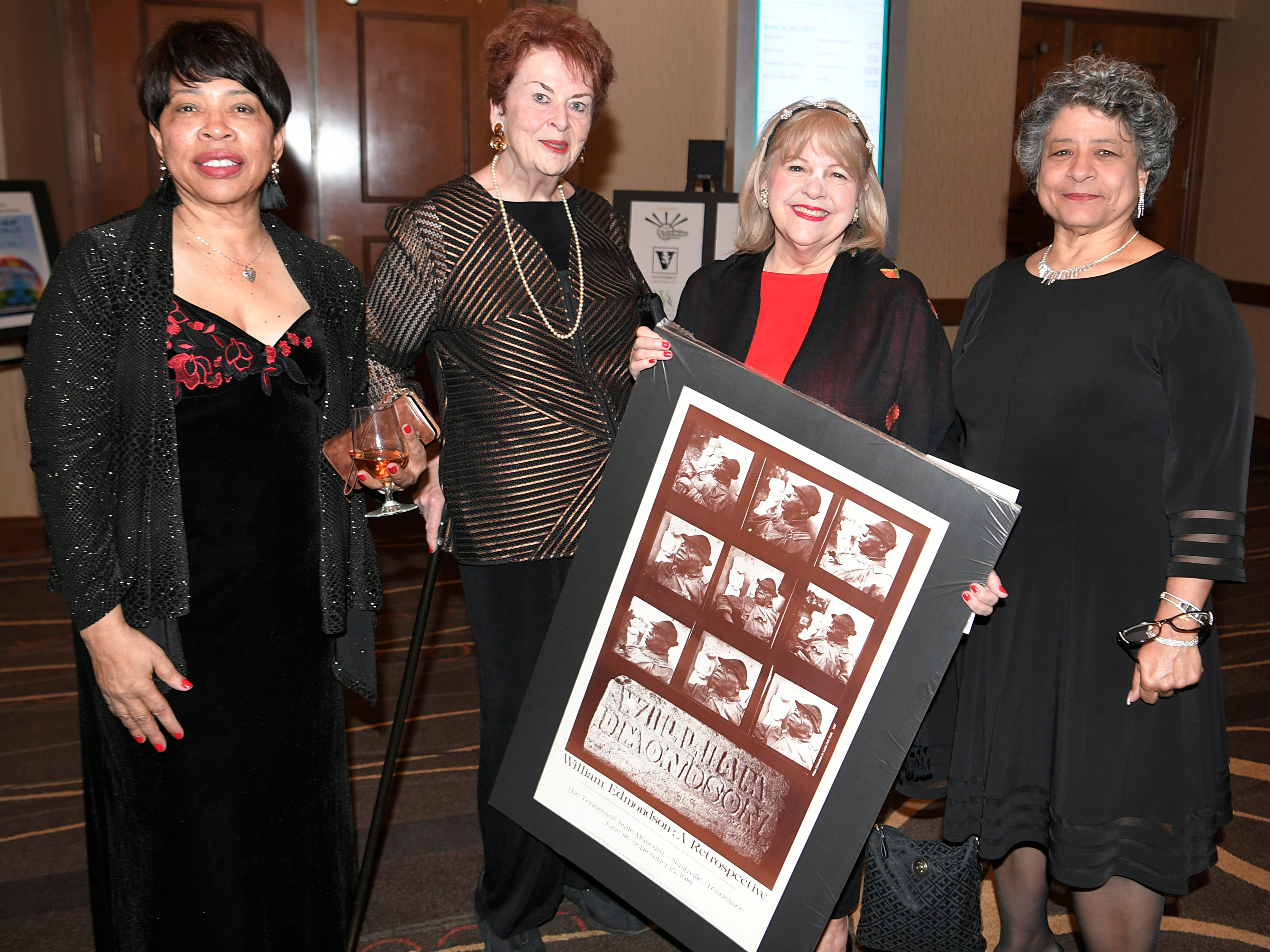 Pearl Bransford, Cornelia Holland, Mary Pearce and Deborah Murdic at the African American Heritage Society's 18th Annual Black Tie Affair at the Embassy Suites in Franklin on Sat., Feb. 2, 2019.