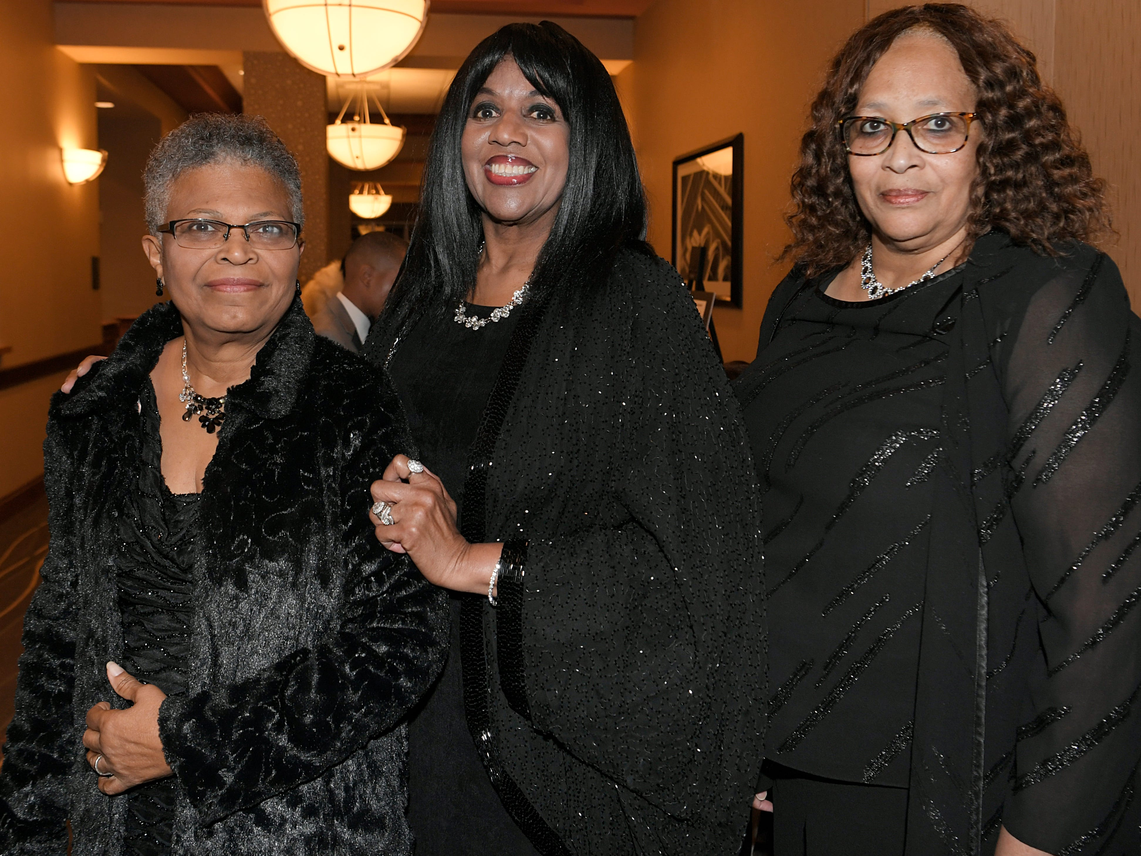 Louise Peoples Anderson, Alma McLemore and Delphine Lee-Dodson at the African American Heritage Society's 18th Annual Black Tie Affair at the Embassy Suites in Franklin on Sat., Feb. 2, 2019.