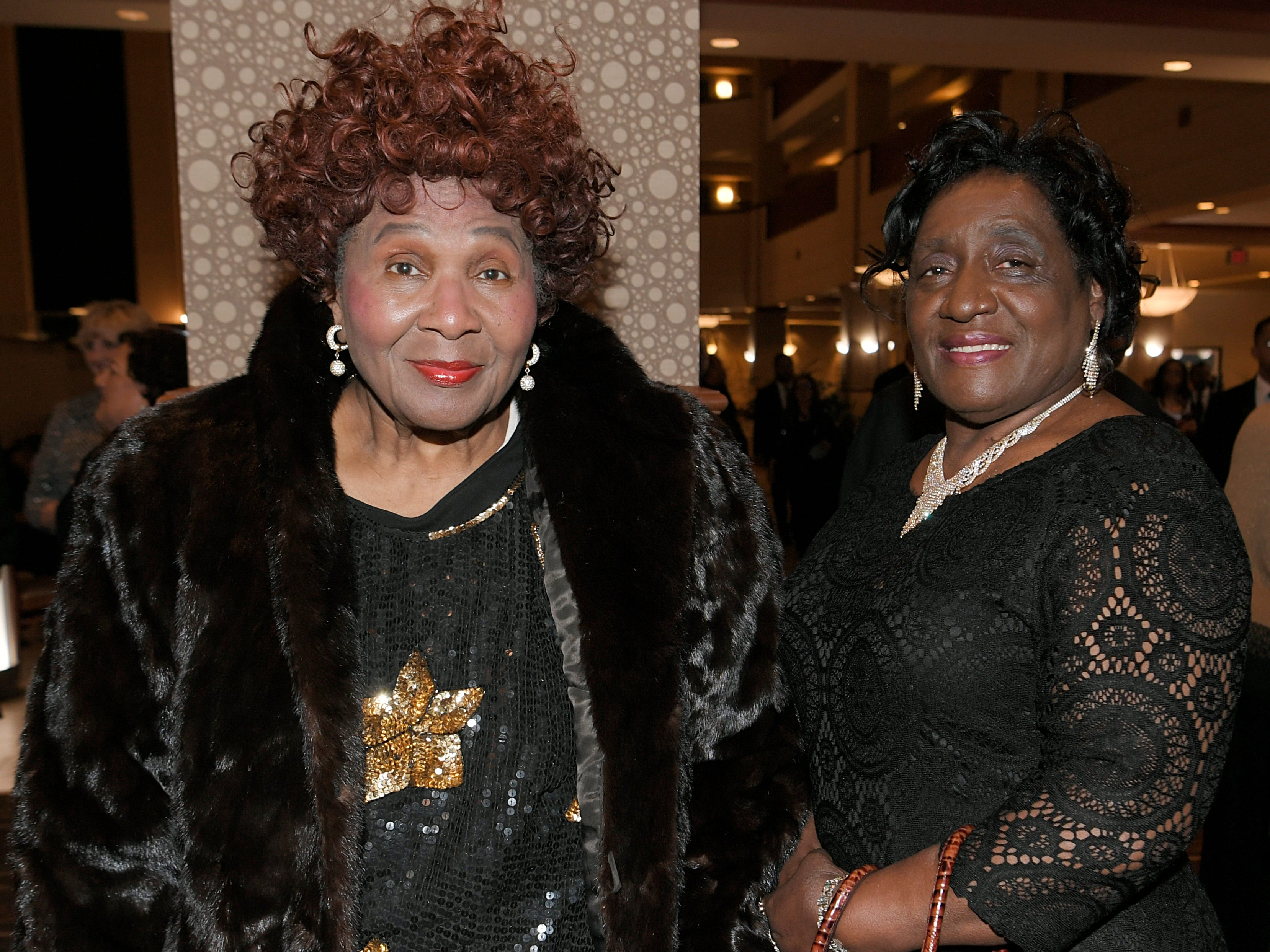 Francis Patton and Marie Ogilvie at the African American Heritage Society's 18th Annual Black Tie Affair at the Embassy Suites in Franklin on Sat., Feb. 2, 2019.