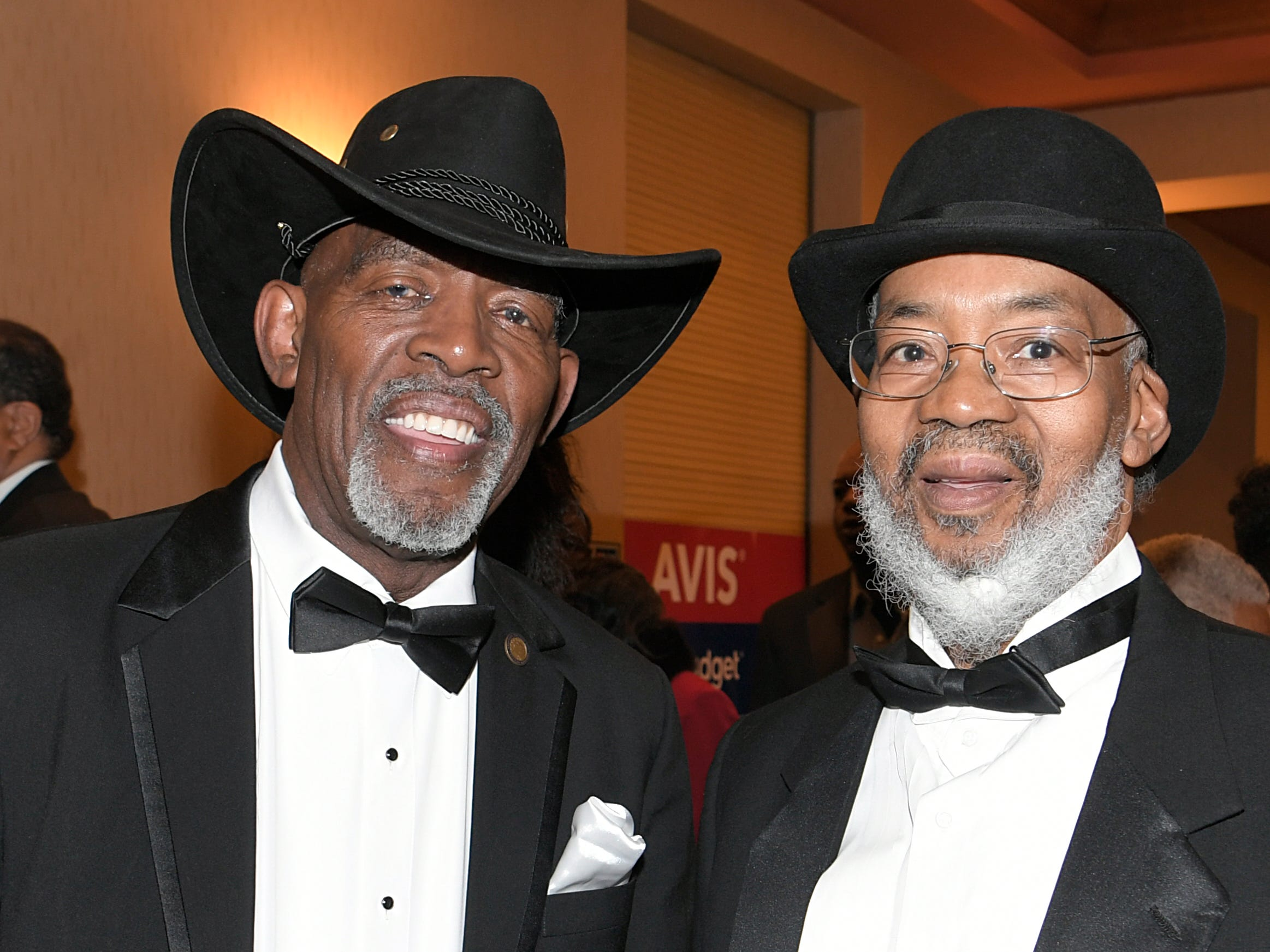 Cordell Witcherspoon and William Covinston at the African American Heritage Society's 18th Annual Black Tie Affair at the Embassy Suites in Franklin on Sat., Feb. 2, 2019.