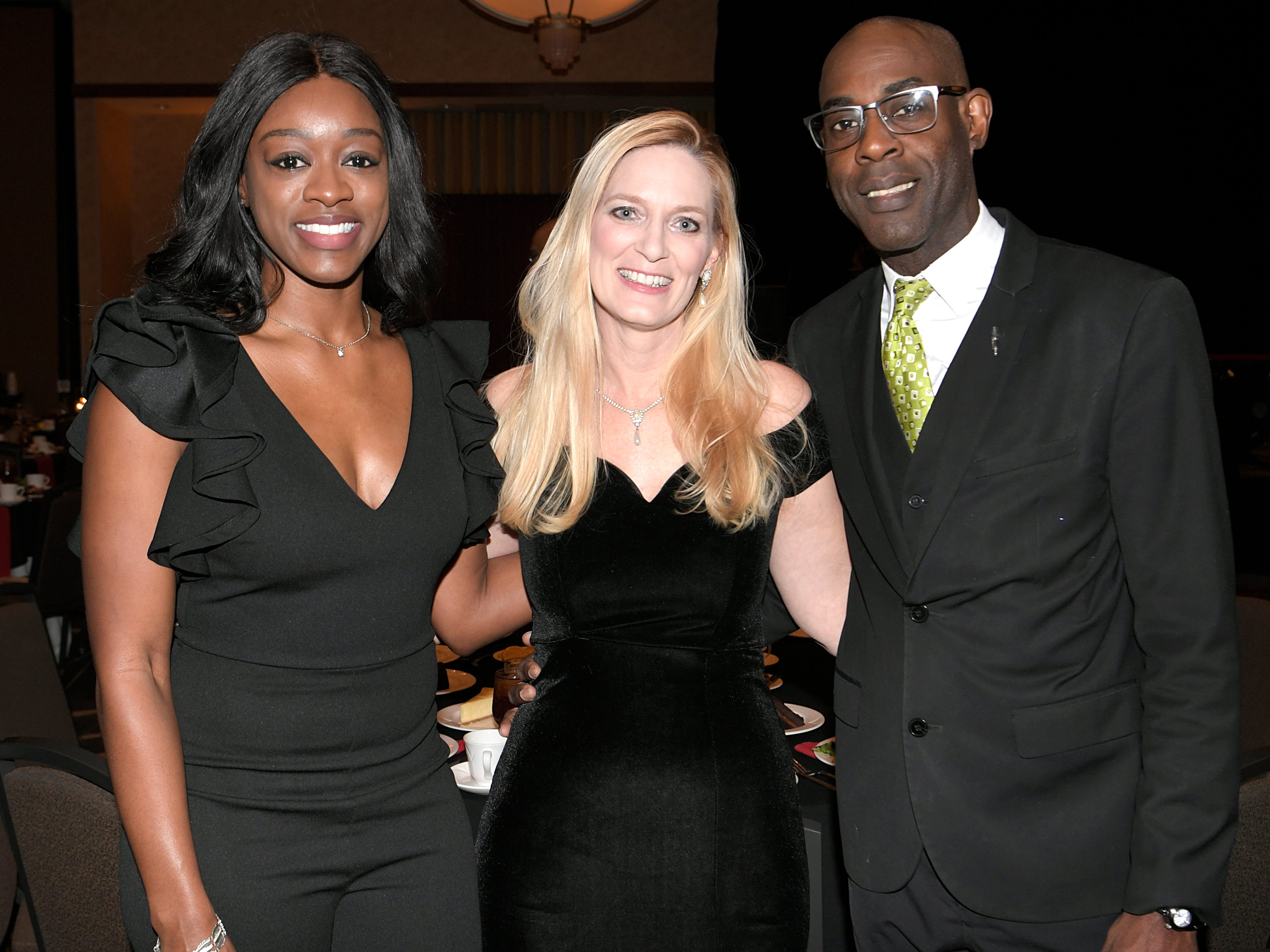 Ariel Campbell, Kristi Sylvester, and Sammy Sylvester at the African American Heritage Society's 18th Annual Black Tie Affair at the Embassy Suites in Franklin on Sat., Feb. 2, 2019.