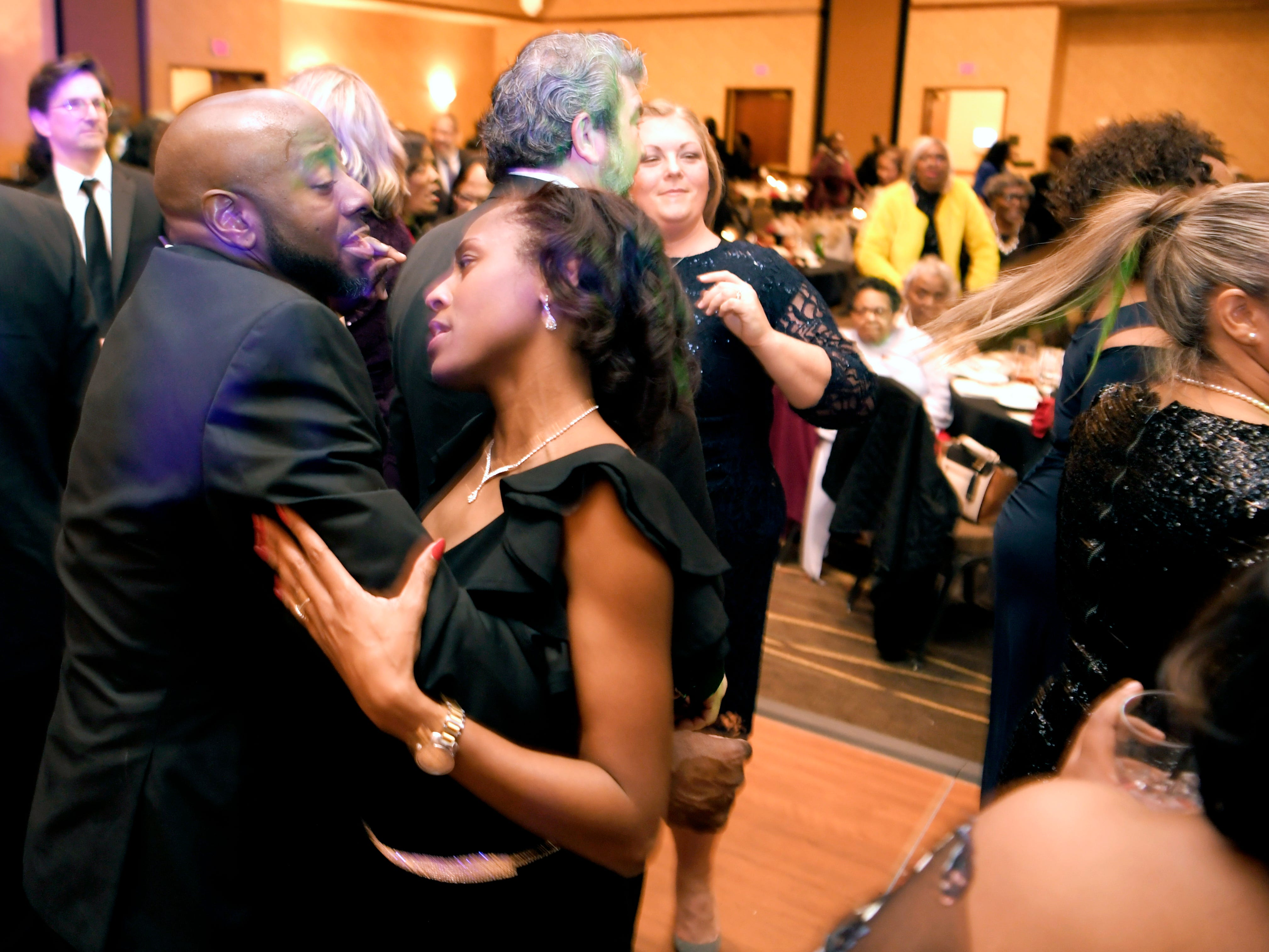 Anthony and Angela Fleming dance at the African American Heritage Societys 18th Annual Black Tie Affair at the Embassy Suites in Franklin on Sat., Feb. 2, 2019.