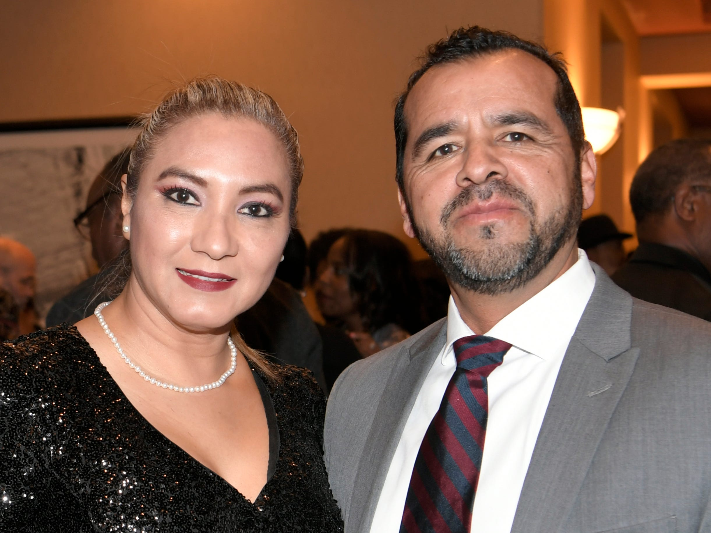 Ana and Louis Sura at the African American Heritage Society's 18th Annual Black Tie Affair at the Embassy Suites in Franklin on Sat., Feb. 2, 2019.