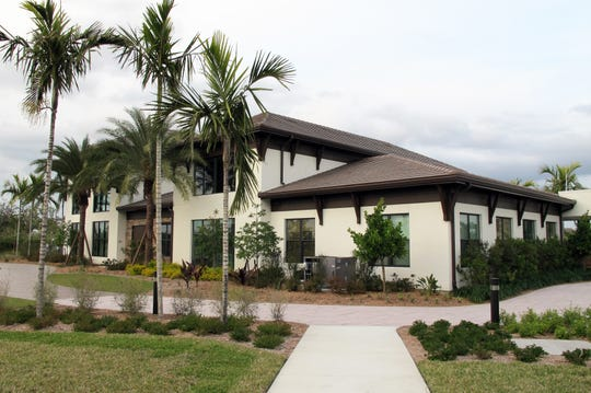 The sales center for Siena Lakes senior living community planned on nearly 30 acres along the north side of Orange Blossom Drive in North Naples.