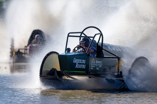 Dan Greenling races in the Pro Mod 2/4WD category during the Swamp Buggy Race on Sunday at the Florida Sports Park in East Naples.