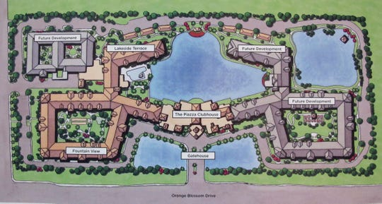 A rendering of Siena Lakes senior living community planned on Orange Blossom Drive in North Naples.
