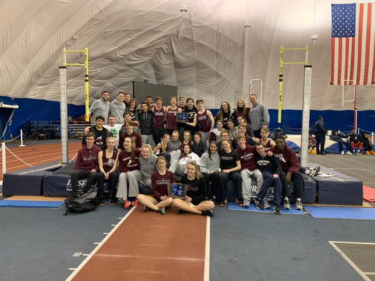 North 1, Group 1 sectional meet champions boys and girls teams from Ridgewood at the Bennett Center in Toms River, Friday Feb. 1, 2019.