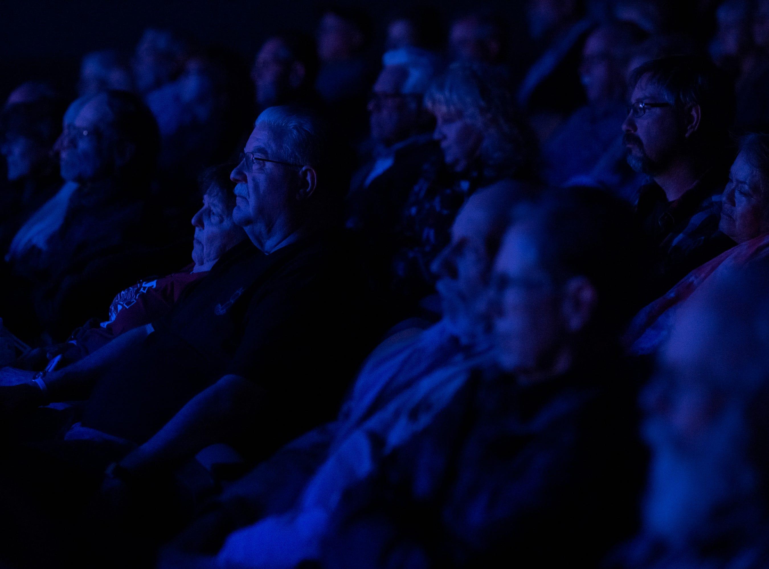 Rio Grande Theatre attendees watch a reenactment of the Jesse Wayne Brazel trial on Saturday, Feb. 2, 2019.