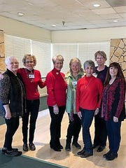Officers of the Federated Republican Women of Lincoln County are from left Ginger Paternostro, 3rd Vice president; Sue Jones , chaplain; Ann Eby, president; Cynthia Black, secretary/treasurer; Irma Nichols,  membership chairman; Betty Roberts, 1st vice president; and Rhonda Stockert , president of FRW of New Mexico.