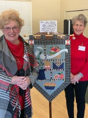 Vicki Arnold , left, will be donating a quilted wall hanging to be raffled off at each FRWLC monthly meeting.