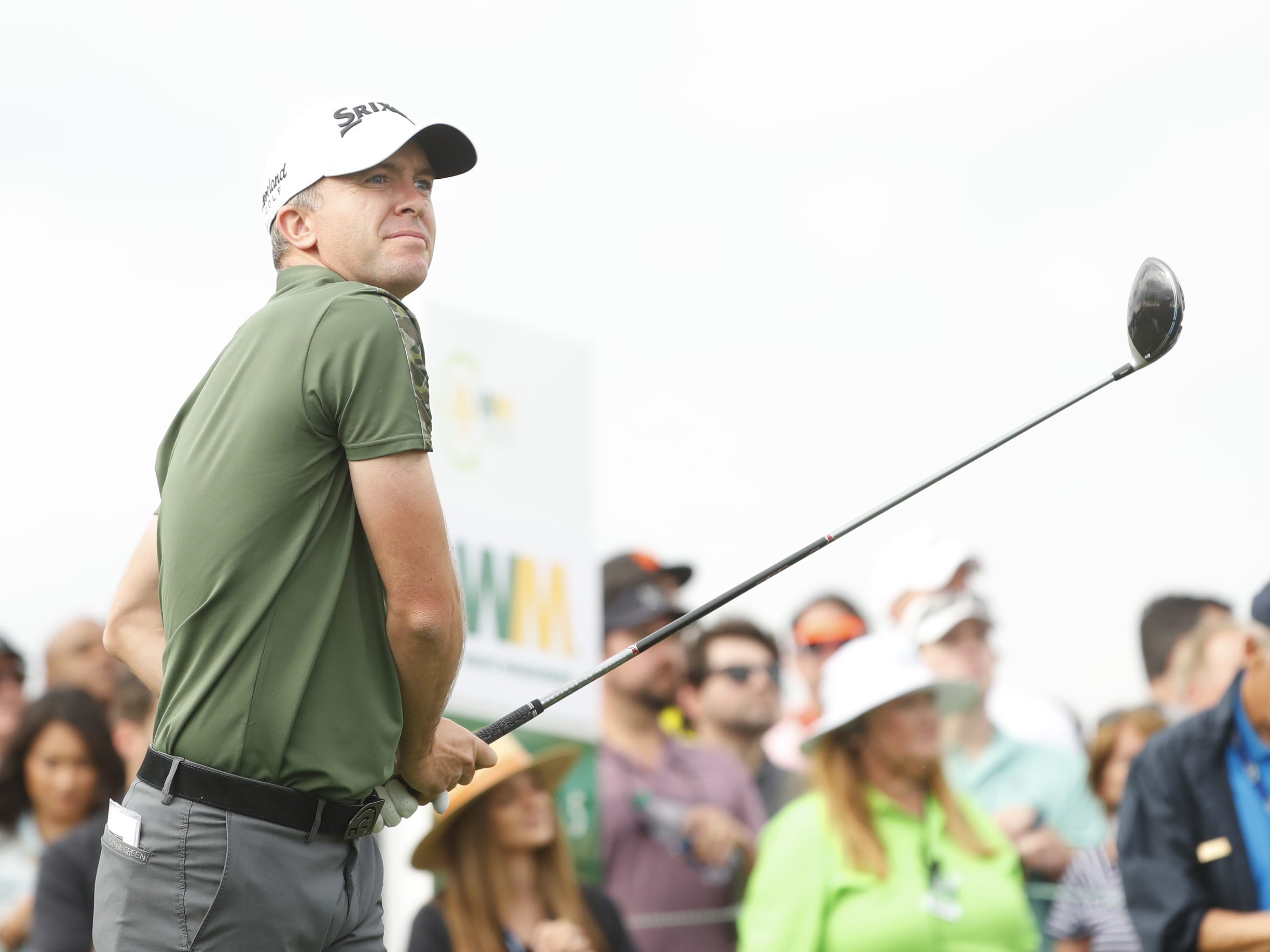 Martin Laird tees off on the 15th hole during the third round of the Waste Management Phoenix Open at TPC Scottsdale in Scottsdale, Ariz. on February 2, 2019.