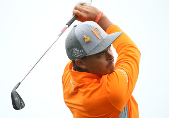 Rickie Fowler hits his tee shot on the 4th hole during final round action on Feb. 3 during the Waste Management Phoenix Open at the TPC Scottsdale Stadium Course.