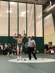 Feb. 2, 2019; Abraham Rivera wins Division III, Section 3 wrestling title