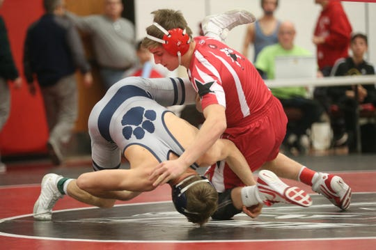 Penfield's Max Kropman  beat Pittsford's Nick Sanko in the 138-pound Section V title match. Kropman went on to win with a pin.