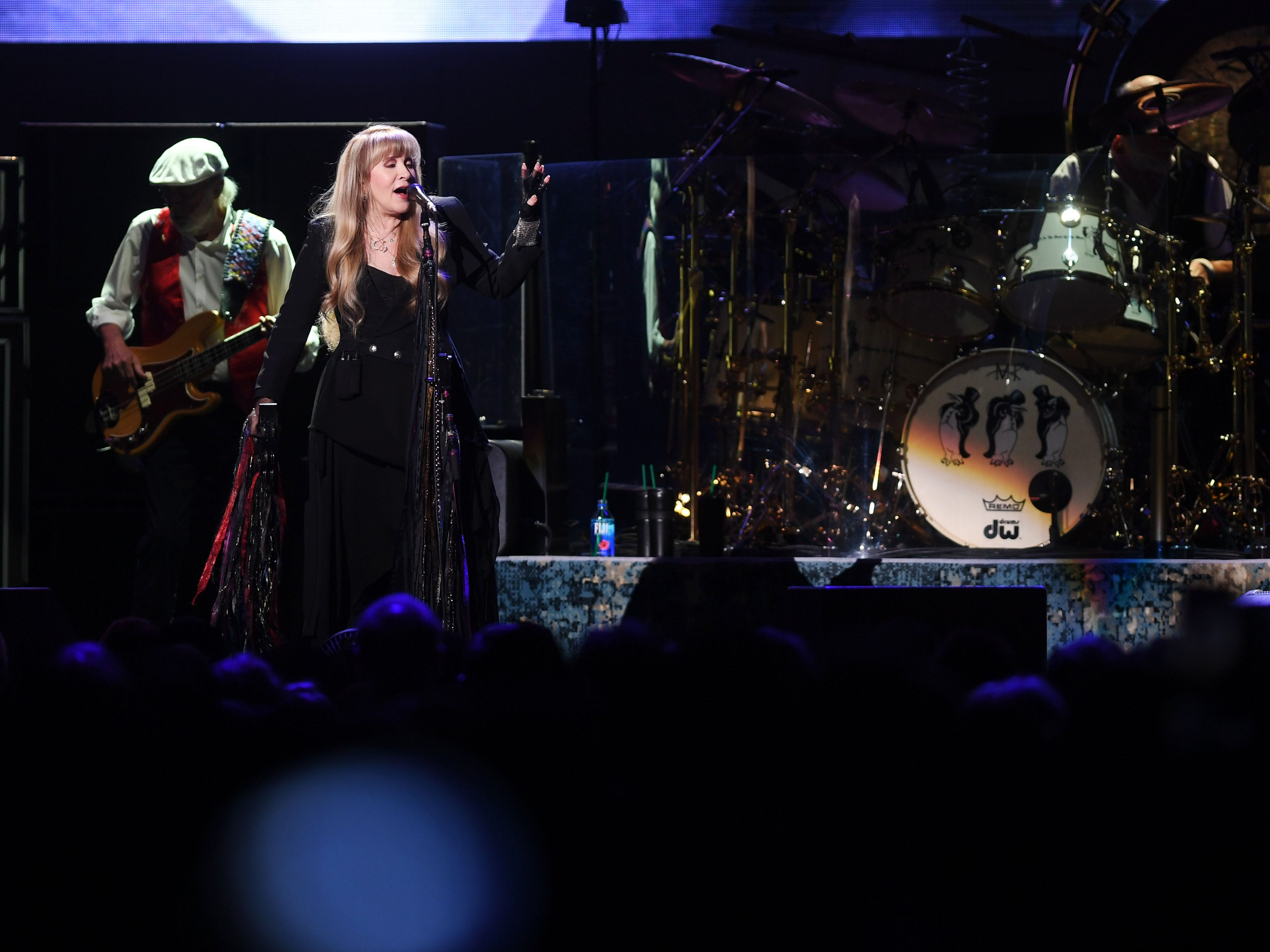 Fleetwood Mac performs at the Denny Sanford Premier Center Saturday, Feb. 2, in Sioux Falls. The new lineup included Mick Fleetwood, John McVie, Stevie Nicks, Christine McVie, Mike Campbell and Neil Finn.