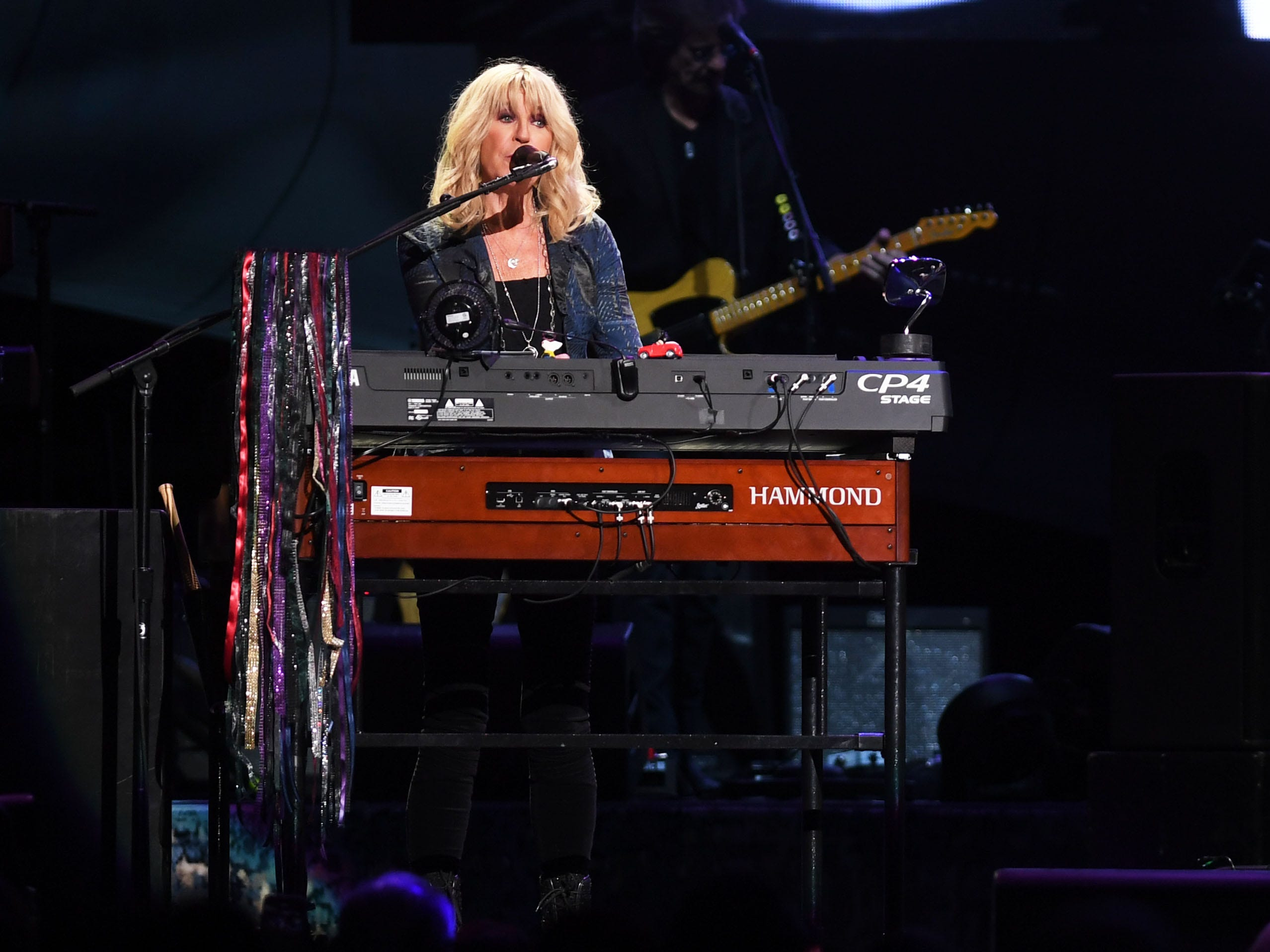 Fleetwood Mac's Christine McVie performs at the Denny Sanford Premier Center Saturday, Feb. 2, in Sioux Falls. The new lineup included Mick Fleetwood, John McVie, Stevie Nicks, Christine McVie, Mike Campbell and Neil Finn.