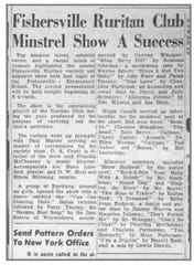 A report from a 1957 Fishersville Ruritan Club minstrel show, an annual occurrence for generations in the South.