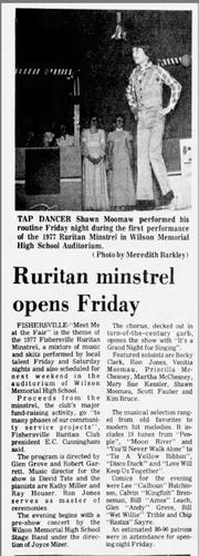 Minstrel shows continued in the Valley well into the late 20th century.