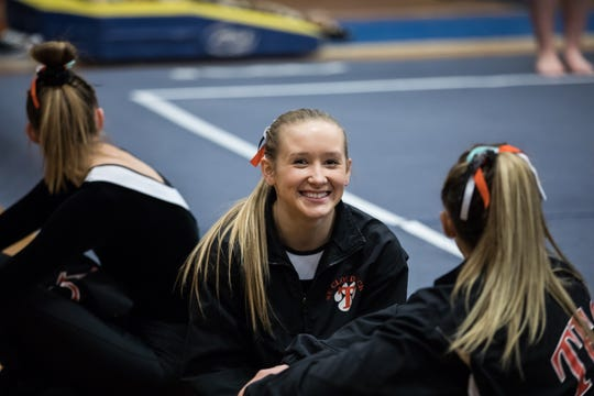 Kaija Ludewig is a senior on the St. Cloud Tech gymnastics team.