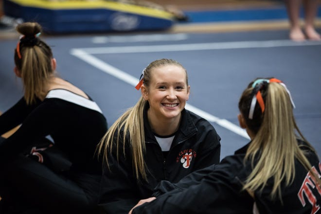 Kaija Ludewig is a senior on the St. Cloud Tech gymnastics team.