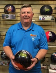 Jon Fjeld poses after rolling a 676 that included a high game of 269 in Mesquite last week.