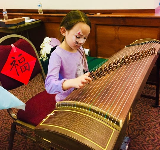 Chinese instrument Guzheng from the Confucius Institute.